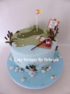 Fishing/golf cake                                            Cake Designs By Deborah