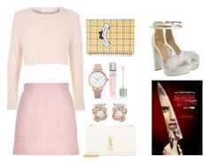 """Scream queens inspired"" by hollytreefashion ❤ liked on Polyvore featuring River Island, Yves Saint Laurent, Oasis, Anabela Chan and Lancôme"
