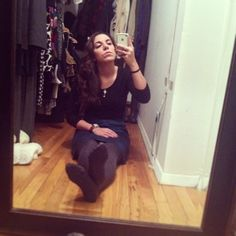 So tired - cant even get off the floor. #jcrew top #clubmonaco skirt 1/9/13