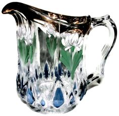 Antique Northwood Glass Co Early American Exquisite Antique Blown Flint Creamer Table Pitcher 1890-1900