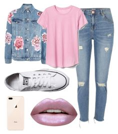 """""""Untitled #149"""" by emgs-1 on Polyvore featuring Topshop, River Island, Gap, Converse and Huda Beauty"""