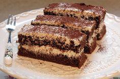 Kávés - tejszínes szelet sütemény recept képpel, pontos hozzávalókkal és elkészítési leírással. Kipróbált Krémes sütik, Összes, Piskóta recept, biztos siker.