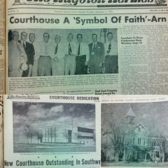 The Stevens County Courthouse was dedicated September 6, 1952 after 8 years of planning and preparation.  Kansas Governor Edward F. Arn attended the dedication along with several other State officials.