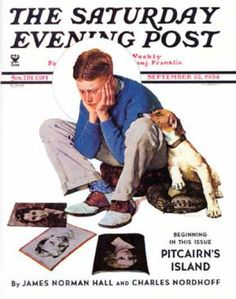 """Saturday Evening Post - 1934-09-22: """"Boy Gazing at Cover Girls"""" (Norman Rockwell)"""