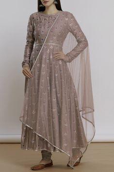 Buy Chanderi Anarkali Set by Priyal Prakash at Aza Fashions Party Wear Indian Dresses, Pakistani Fashion Party Wear, Designer Party Wear Dresses, Indian Gowns Dresses, Kurti Designs Party Wear, Dress Indian Style, Pakistani Dress Design, Indian Designer Outfits, Pakistani Dresses