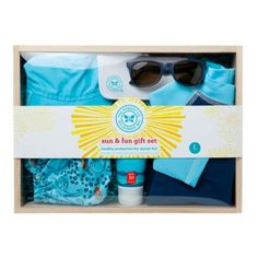 Honest Sun & Fun Gift Set in Blue - buybuyBaby.com