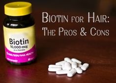 Biotin is a B vitamin necessary for strong hair and nails that has also been used to treat diabetes. If you want to take it as a supplement for your hair, read these pros and cons first. Hair And Nails Vitamins, Vitamins For Hair Growth, Vitamins For Strong Nails, Biotin Benefits, Biotin Hair Growth, Hair Regrowth, Prevent Hair Loss, Strong Hair, Hair Loss Treatment