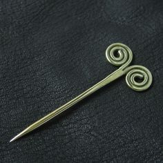 Bronze pin from medieval Rus.  Reenactment. Slavic. Russia. SCA.