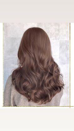 Brown Blonde Hair, Light Brown Hair, Wavy Hair, Dyed Hair, Brown Hair Inspo, Brown Hair Colors, Korean Hair Color Brown, Ulzzang Hair, Pretty Hair Color