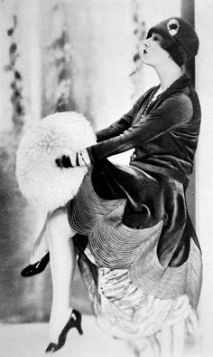 """les-modes: """" Lily Damita in a dress by Jenny, Les Modes November 1927. Photo by G.L. Manuel Frères. """""""