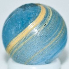 antique glass marbles | Antique Glass Marble ~ RARE Blue Glass Coreless Swirl Marble c.1 ...