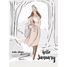 Hello January by Rose Hill Designs Hello January Quotes, Hello March, Seasons Months, Months In A Year, Hello Novembre, Rose Hill Designs, Neuer Monat, Art Altéré, Winter Typ