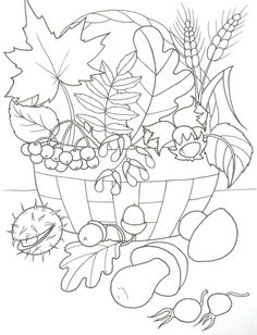 Fruit Coloring Pages, Fall Coloring Pages, Pattern Coloring Pages, Coloring Sheets, Adult Coloring, Thanksgiving Art, Autumn Crafts, Fruit Art, Kids Prints
