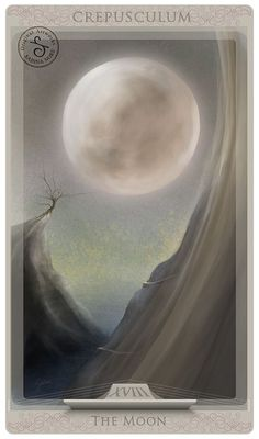 Tarot Card Art | Major Arcana | The Moon by Sabina Nore | Tarot Illustrated Cards | Divination | Oracle