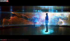 Mass Effect 2 Concept Art // Illusive Man Office by Matt Rhodes