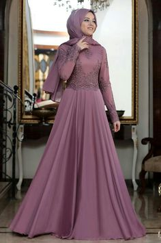 73b490e00724 Dresses Hijabi Gowns, Muslim Gown, Tea Length Bridesmaid Dresses, Hijab  Trends, Event