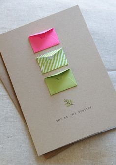 Youre The Bestest Lime Tiny Envelopes Card By LemonDropPapers 600 Origami Cards