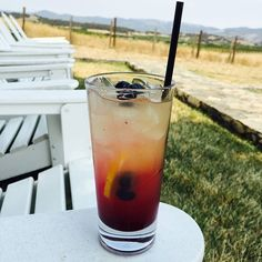 Meet the Carneros Sunrise our featured cocktail at Hilltop for the month of August. This  features rum housemade blueberry syrup pineapple and lemon juice. Cheers!! #napavalley #carnerosinn #carneros #napa #visitnapavalley #view #poolside #pool #vacation #summer #cocktail #currentvibes #weekendmode ## by thecarnerosinn