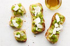 """""""The Green Zebra"""" — Ricotta Salata, Green Tomatoes, Olive Oil"""