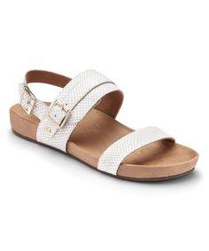 b99fac0b7c7 White Samar Leather Sandal - Women  zulilyfinds