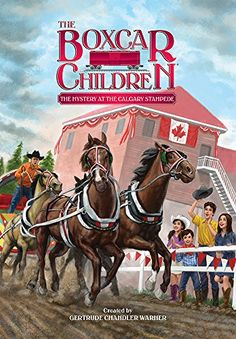 The Mystery at the Calgary Stampede (The Boxcar Children Mysteries) by Gertrude Chandler Warner http://www.amazon.com/dp/0807528412/ref=cm_sw_r_pi_dp_T7rWvb0ZM47GW