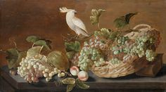 C 1640 Still Life with Parrot Roelof Koets (1592-1655)  Skokloster Castle