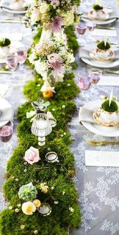table decor idea  Garden Wedding                              …