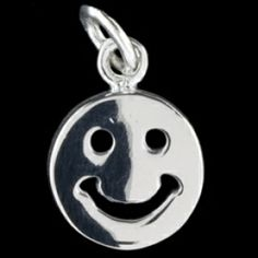 Silver pendant, smiley Silver pendant, Ag 925/1000 - sterling silver. Smiley. Dimensions approx. 12x15mm.