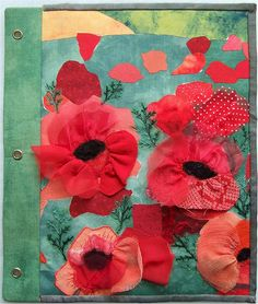 "Fabric book - ""August right page"" by Cecile Yadro"