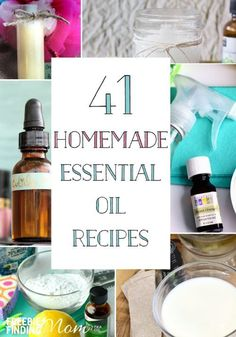 Do you love essential oils? If you don't already, you are about to once you discover the myriad of homemade essential oil recipes you can make for beauty products, cleaning products, and other household products. By making these powerful, all natural DIY recipes you can avoid expensive store bought goods that are loaded with chemicals.
