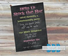 Stock the Bar Housewarming Party Invitation  by DeepBreathDesign, $10.00