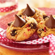 Funfetti®️️ Valentine Peanut Butter and Chocolate Cookies from Pillsbury are an easy and yummy Valentine's Day treat the kids can help bake!