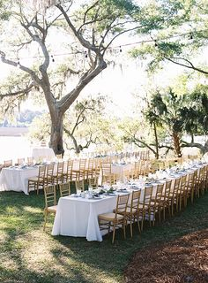 long reception tables at RiverOaks in Charleston | Virgil Bunao #wedding