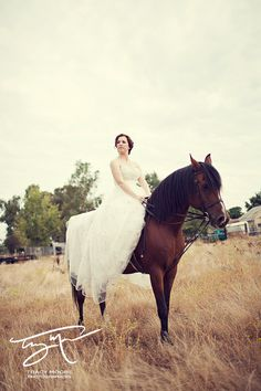 Depending on the venue, it would be cool to ride up on a horse instead of a cool car or a carriage.