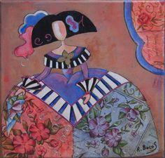 Pinzellades al món: 'Meninas' il·lustrades per Raquel de Bocos Art Painting, Artist Art, Ceramic Figures, Painting, Inspirational Illustration, Canvas Art, Creative Art, Paper Art, Pop Art