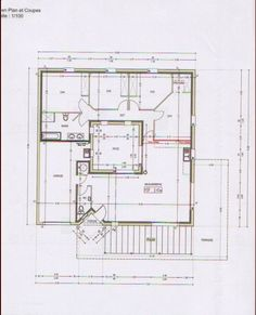 Photo Ce Sont Les Plans De La Maison, Carrée Avec Un Pat (.