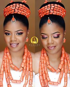 From Edo with love @bemariie glammed up by @oshewabeauty hair by @tobbiestouch event planned by @oakenevent