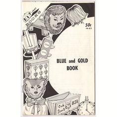 Vintage 1971 Blue and Gold Kap Kraft Book, Boy Scouts of America