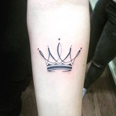 Crown Tattoo on Forearm by David