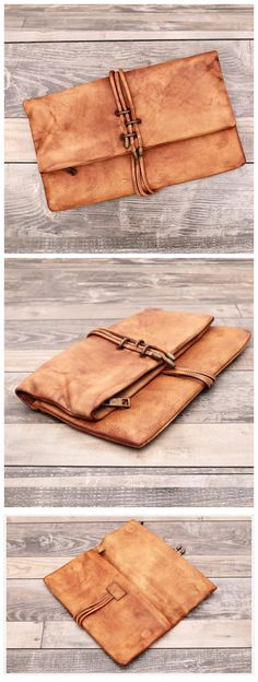 Genuine Leather Clutch/ iPad Bag / Envelope Bag/ Women Handbag