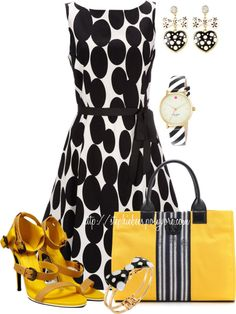 """""""Stripes & Dots"""" by stephiebees on Polyvore"""