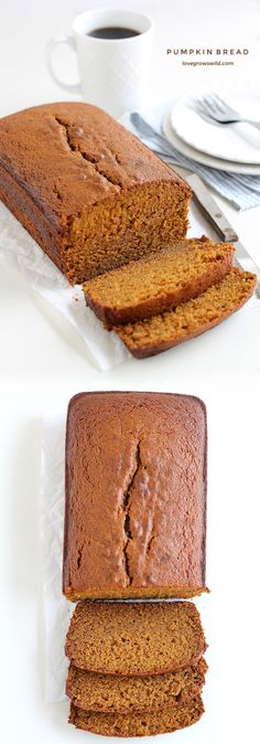 This pumpkin bread recipe will knock your socks off! Moist, sweet, and full of pumpkin Yummy Treats, Delicious Desserts, Yummy Food, Pumpkin Recipes, Fall Recipes, Pumpkin Pumpkin, Easy Pumpkin Bread, Gluten Free Pumpkin Bread, Baking Recipes