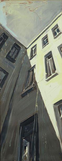 "Saatchi Art Artist: Helge Windisch; Oil 1994 Painting ""Moabiter Himmel"""