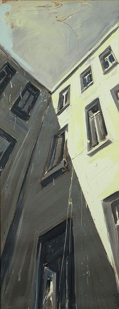 """Helge Windisch; Oil, 1994, Painting """"Moabiter Himmel"""""""