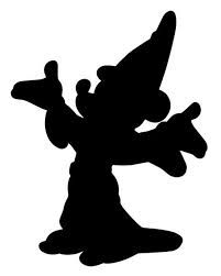 Mickey the Sorcerer Silhouette - Disney Castle Silhouette, Mickey Silhouette, Silhouette Clip Art, Silhouette Projects, Disney Princess Silhouette, Mickey E Minie, Disney Mickey, Minnie Mouse, Disney Diy