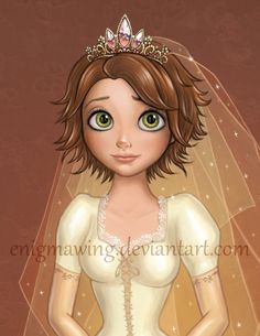 Rapunzel with short hair from deviantART