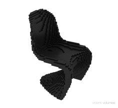 Voxel Chair black Rhinoscript Christopher Daniels, All Black Sneakers, Chair, Stool, Chairs
