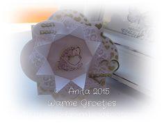 Anita 's Warme Groetjes: Ala Anita's baby kaartje