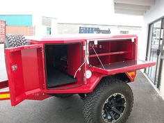 The Metalian Mini Off Road Camping Trailer. View The Picture Gallery, Technical Information, Other models and contact us for pricing here. Teardrop Camper Trailer, Kayak Trailer, Off Road Camper Trailer, Trailer Diy, Trailer Plans, Trailer Build, Camper Trailers, Welding Trailer, Box Trailer