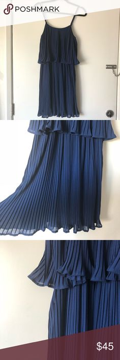 LULU'S // pleated perfect dress brand new, never worn, spaghetti strap dress. super flirty and perfect for spring and summer! Lulu's Dresses Mini